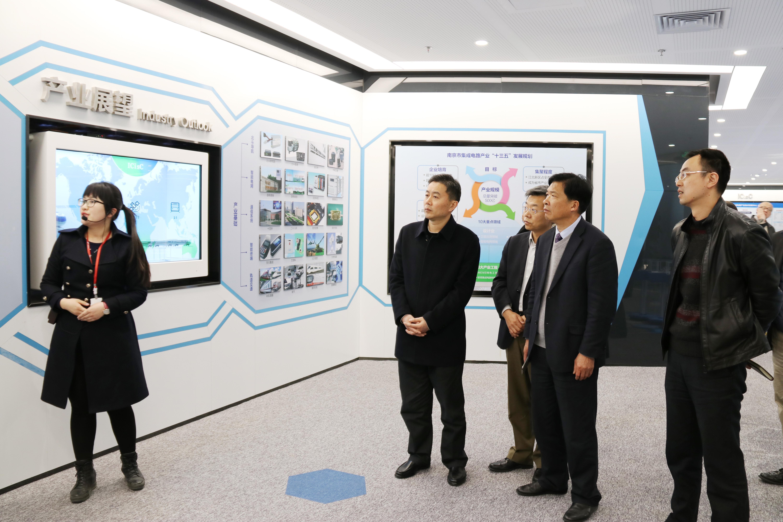 参观了icisc南京集成电路产业服务中心展厅,介绍了以国家级南京江北